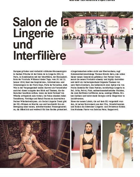 die Schweizer Lingerie- und Swimwear-KollektionMadame Pierre von Sabrina Peter, Rapperswil.