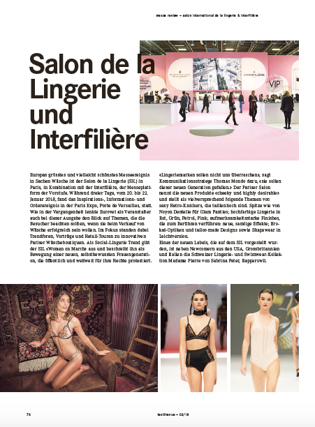 Newcomer am Salon International de la Lingerie