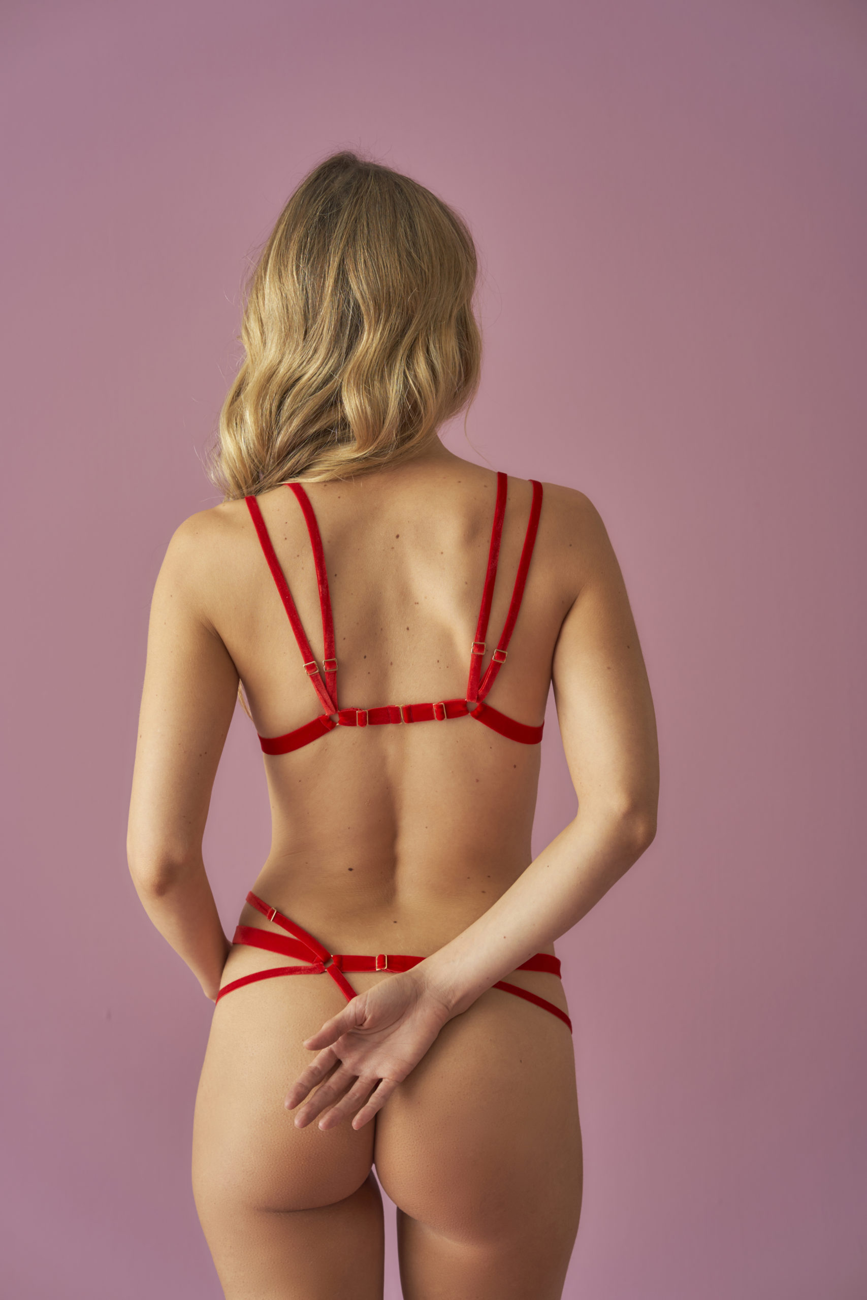 'VALÉRIE ROUGE' Harness Bralette