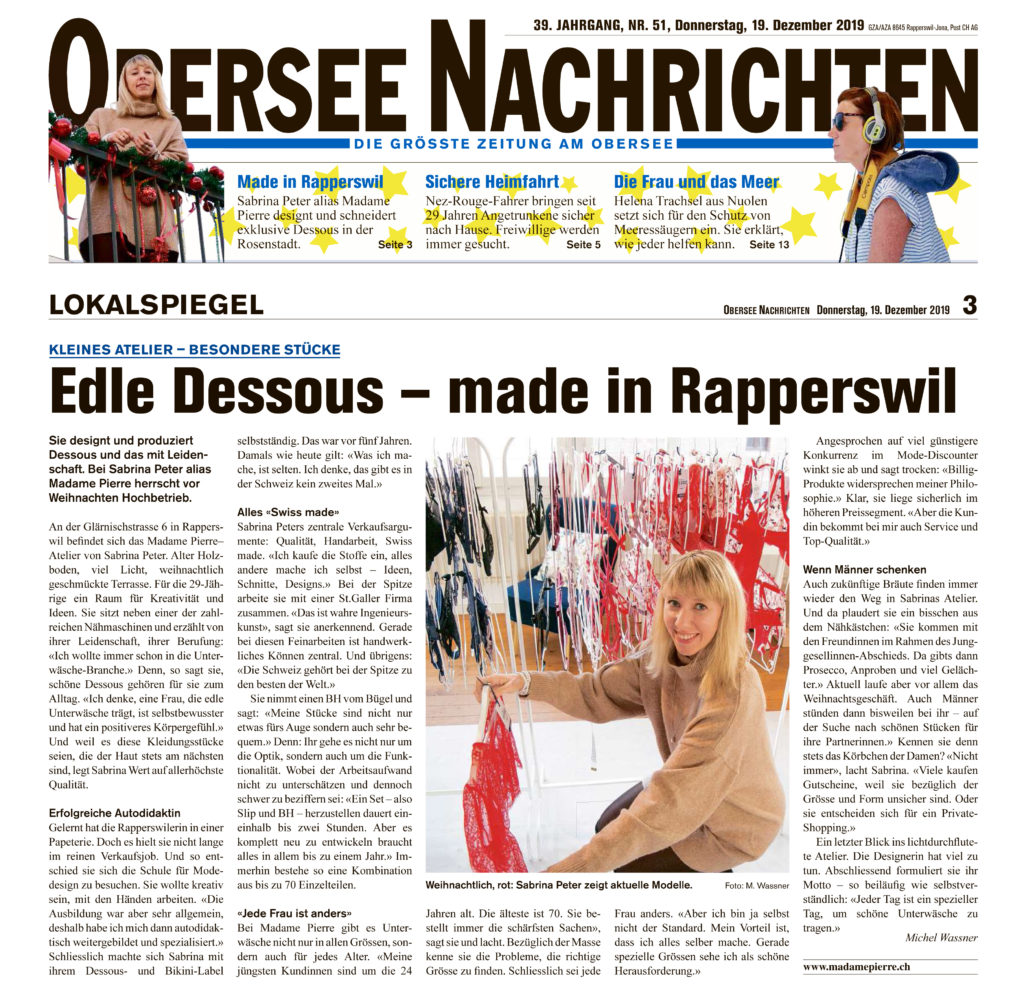 Edle Dessous - made in Rapperswil
